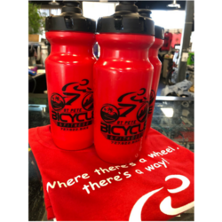 St Pete Bicycle & Fitness Red Water Bottle
