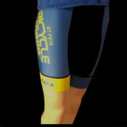 St Pete Bicycle & Fitness W's Power Bib Blue & Yellow