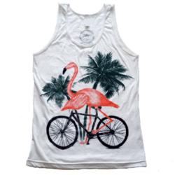 Dark Cycle Clothing Flamingo on a Bike T-Shirt
