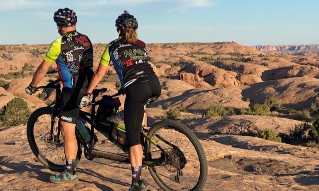 Alger Adventures Tandem Team at Moab