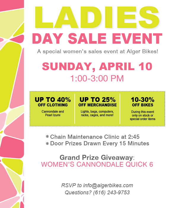 Ladies Day Sale at Alger Bikes - algerbikes com