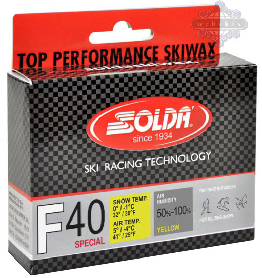 Solda F40 Special Ski Wax Color: Yellow