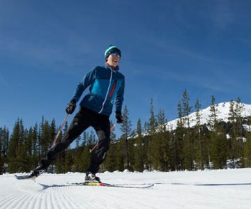 skate skier at Mt. Bachelor