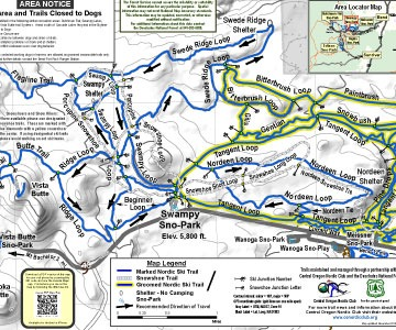 swampy lakes sno-park map