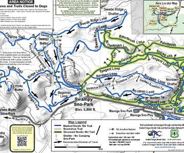 swampy lakes sno-park map