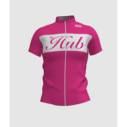 Hub Bike Co-op SS Cycling Jersey - Pink