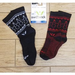 Swiftwick Vision Five Smowman Sock coal0white