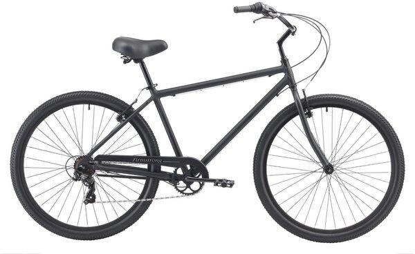 "Firth Sports 7 Speed, Matte Black - Men's 29"" Beach Cruiser Bike"