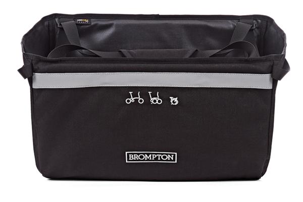 Brompton BASKET BAG INCL FRAME + BRACE Black
