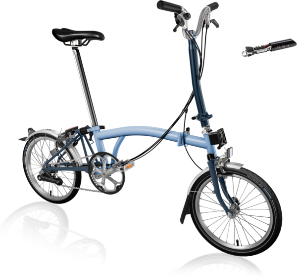 Brompton H6L Cloud Blue Tempest Blue | High Bar 6 Speed with Fenders