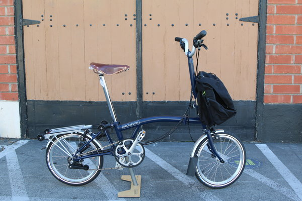 Brompton SOLD OUT H6R Tempest Blue & C Bag