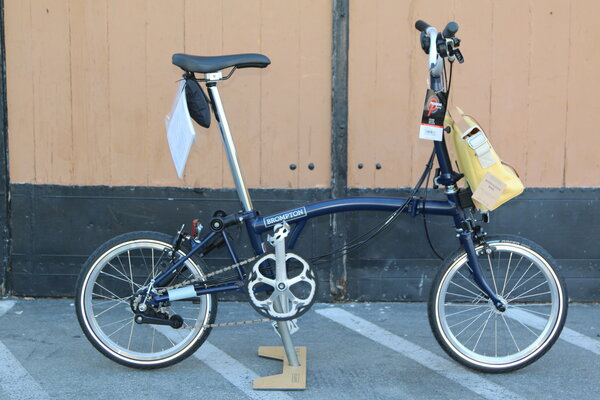 Brompton SOLD OUT M6E Tempest Blue W Shoulder Bag Yellow