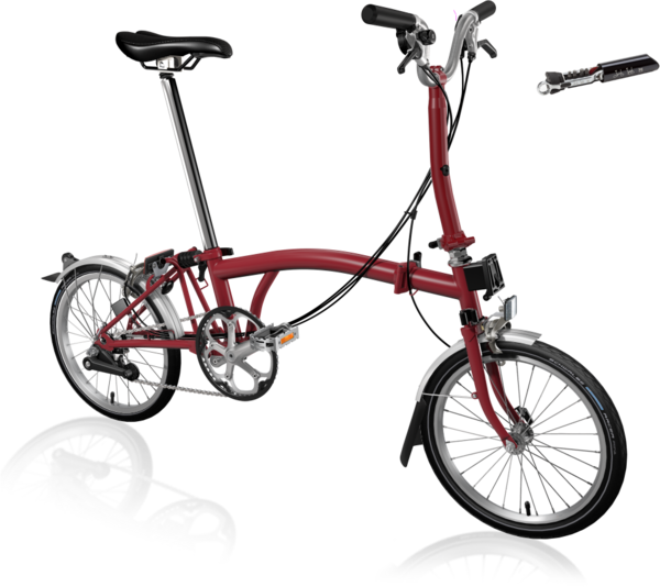 Brompton M6L House Red with Bag & toolkit