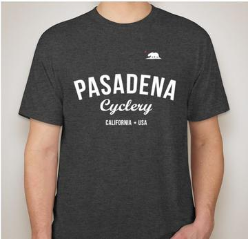 Pasadena Cyclery MENS T-SHIRT VINTAGE BLACK