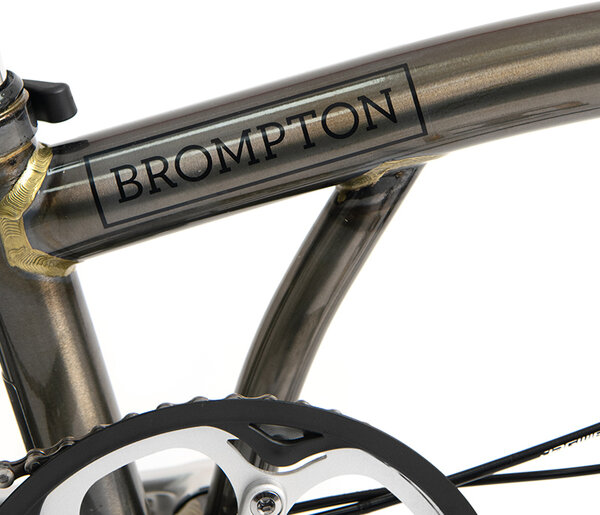 Brompton S6L Black Raw Laquer with tool kit & saddle pouch