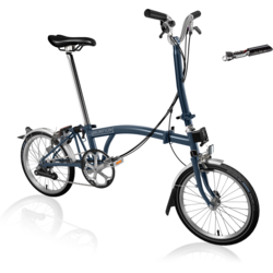 Brompton Brompton H6L Tempest Blue | Preview sale until 10/19 * online only* - 2021