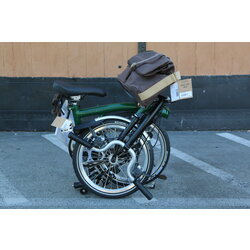 Brompton SOLD OUT M6L Racing Green/Black W Roll Top Bag and Saddle Pouch