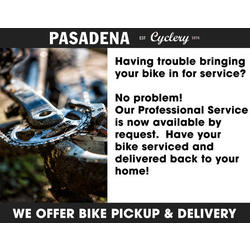 Pasadena Cyclery Bicycle Pickup and Delivery Service