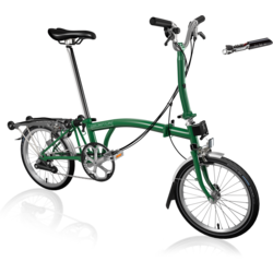 Brompton M6R with Tooklit, Bag, and pouch.