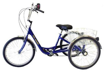"Belize Tri-Rider 24"" Deluxe Trike Color: BLUE"