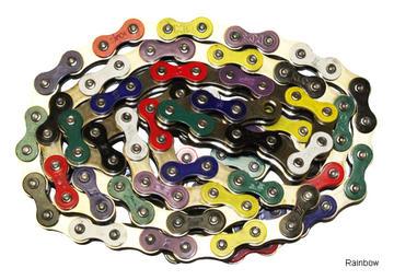 """KMC 510HX 1/8"""" Chain - Rainbow"""