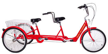 Belize Twin Tri-Rider Tandem Trike Color: RED