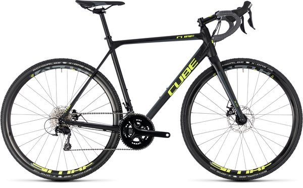 Cube CROSS RACE, Black/FlashYellow