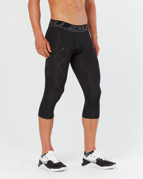 2XU ACCELERATE COMP. 3/4 TIGHTS BLACK/SILVER