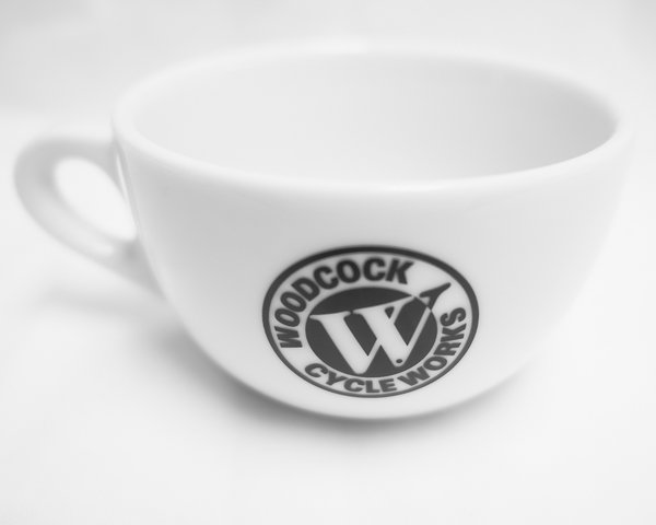 Ancap Yellow Derny Cafe/ Woodcock Cycle Latte Cup