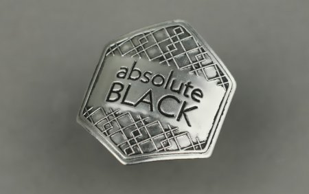 Absolute Black Metal Sticker 43X47mm Grey