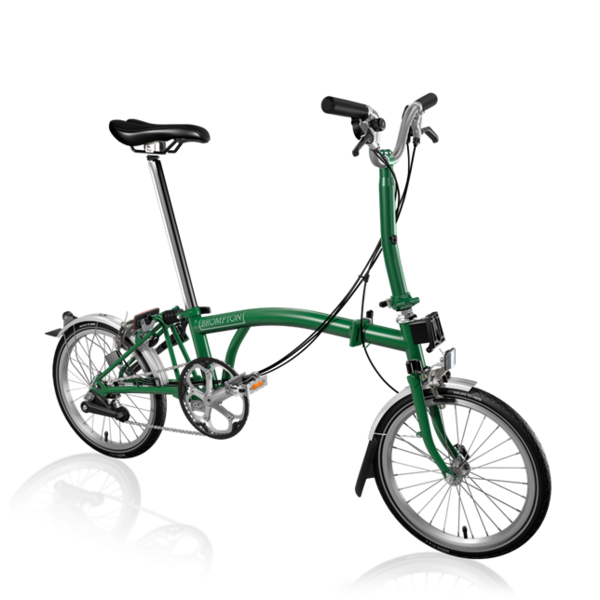 Brompton M6L Folding Bike, Racing Green