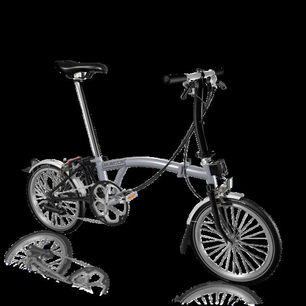 Brompton S2L Folding Bike, Grey
