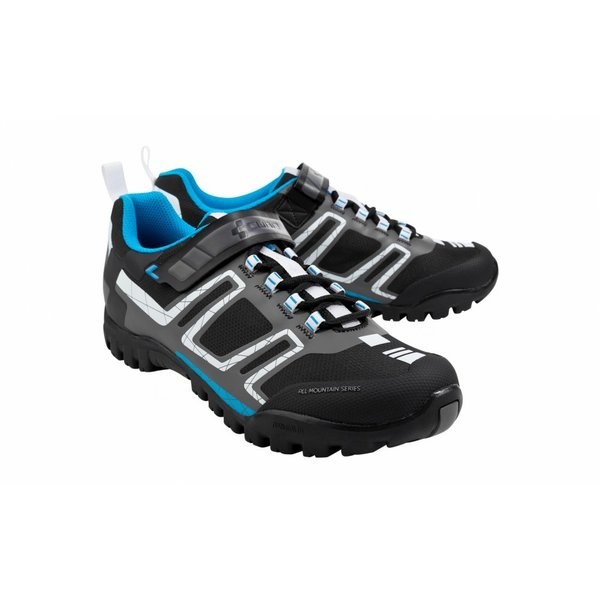 Cube All Mountain Shoes, Blk/Wht/Blu, 37