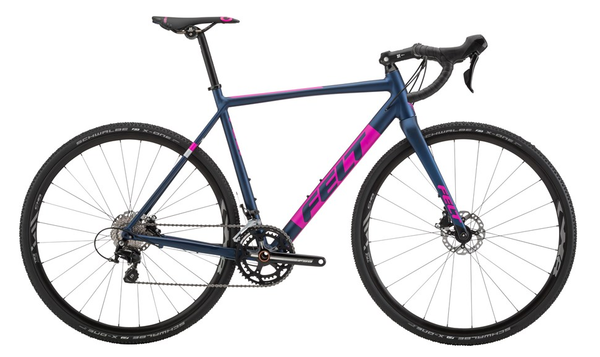 Felt Bicycles F30x Matte Navy Magenta Silver