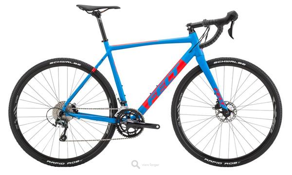 Felt Bicycles F40x Matte Cyan Red Black