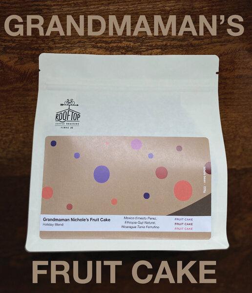 Rooftop Coffee Roasters Grandmaman Nichole's Fruit Cake- Holiday Blend 340g