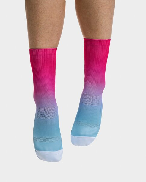 PEPPERMINT Cycling Co. Signature Frost Raspberry Sock