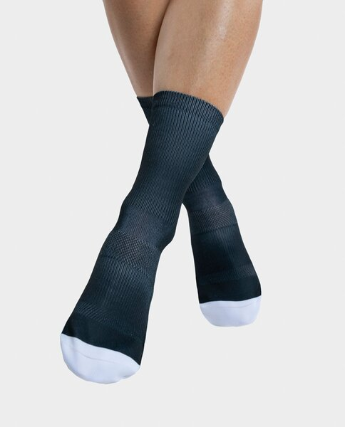 """PEPPERMINT Cycling Co. Signature """"Lets Ride"""" Black Sock"""