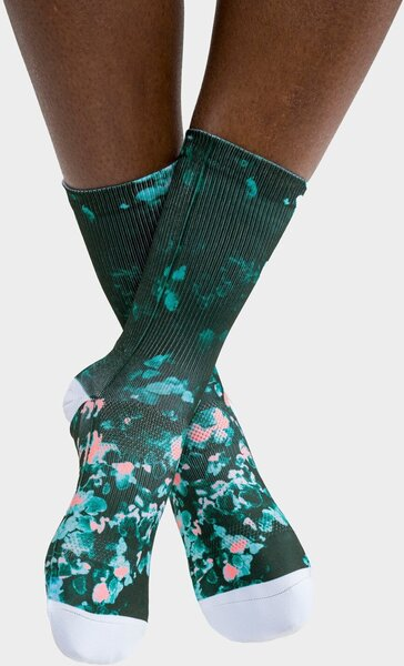 PEPPERMINT Cycling Co. Signature Petals Forest Sock