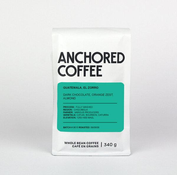 Anchored Coffee Guatemala, El Zorro