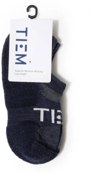 TIEM Low-Cut Socks - Navy/White