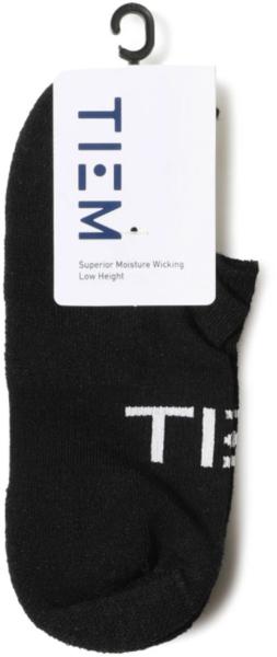TIEM Low-Cut Socks - Black/White