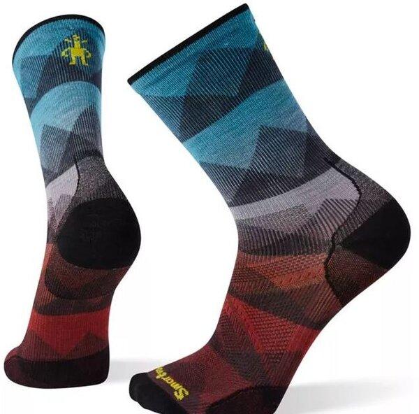 Smartwool PhD® Cycle Ultra Light Mountain Mesh Print Crew Socks