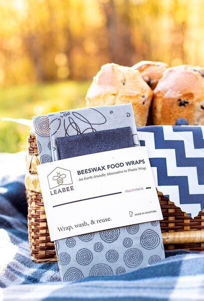 LEABEE Beeswax Food Wraps