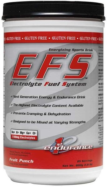 First Endurance EFS Premium Hydration Drink Mix - 25 Servings