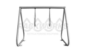 "Rackworks 2 Ring, ""Curb Appeal"" Bike Rack - 6 Bike Capacity"