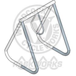 Rackworks 1 Ring Rack, 4 Bike Capacity