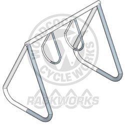 Rackworks 2 Ring Rack, 6 Bike Capacity