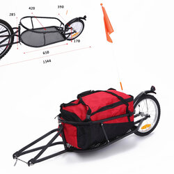 D'Amour Bicycle One Wheel Bike Cargo Trailer