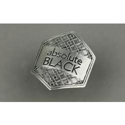 Absolute Black Metal Sticker 43X47mm Grey
